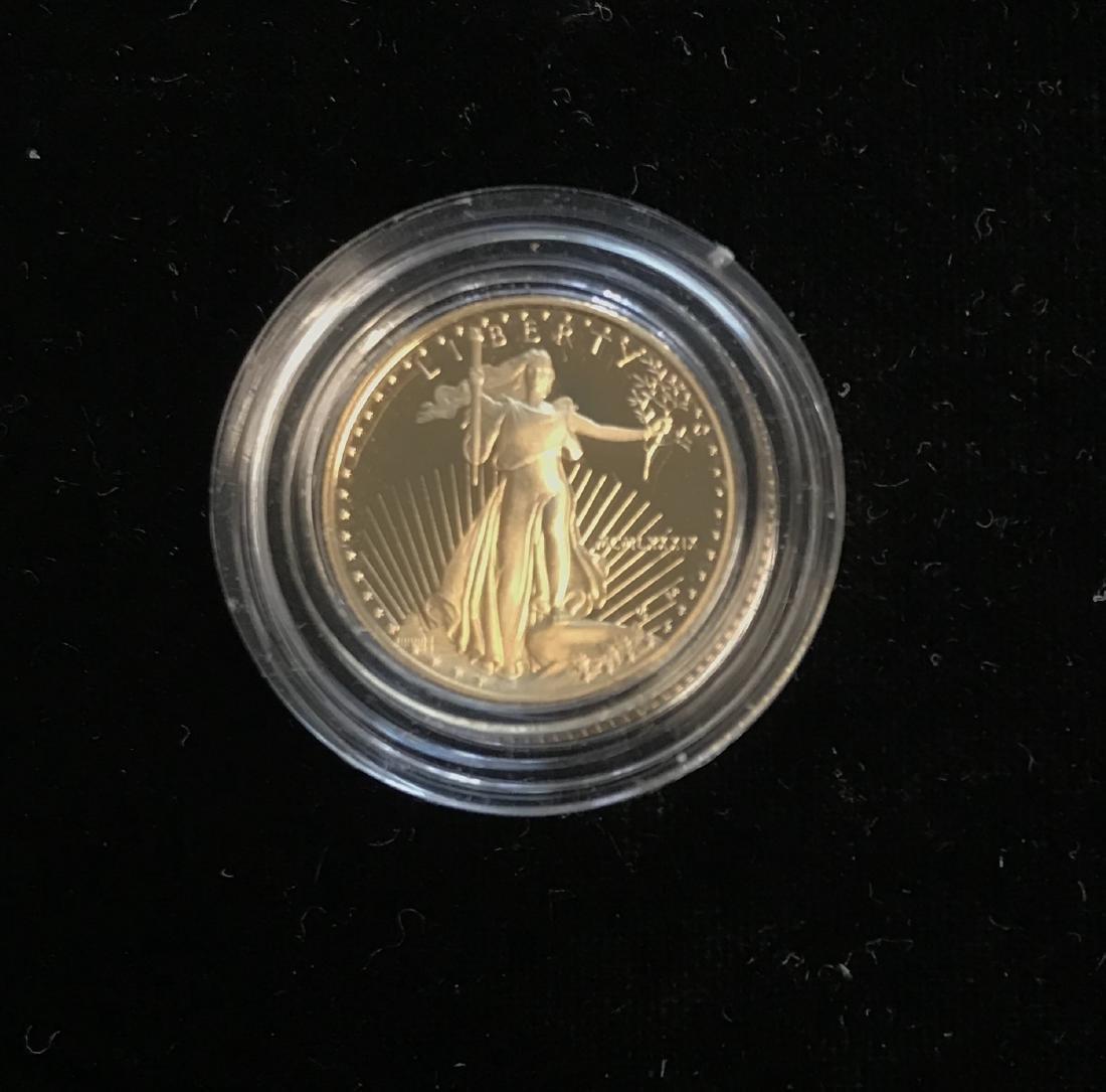 1989 $5 American Gold Eagle 1/10 oz Five Dollar Proof