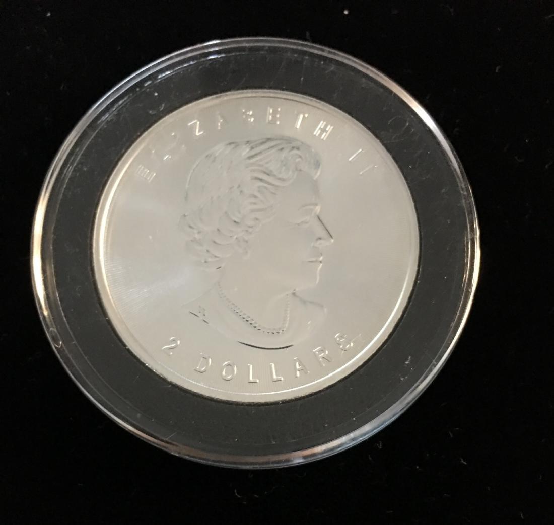 2015 $2 Canada Wild Life Grey Wolf 3/4 oz Fine Silver