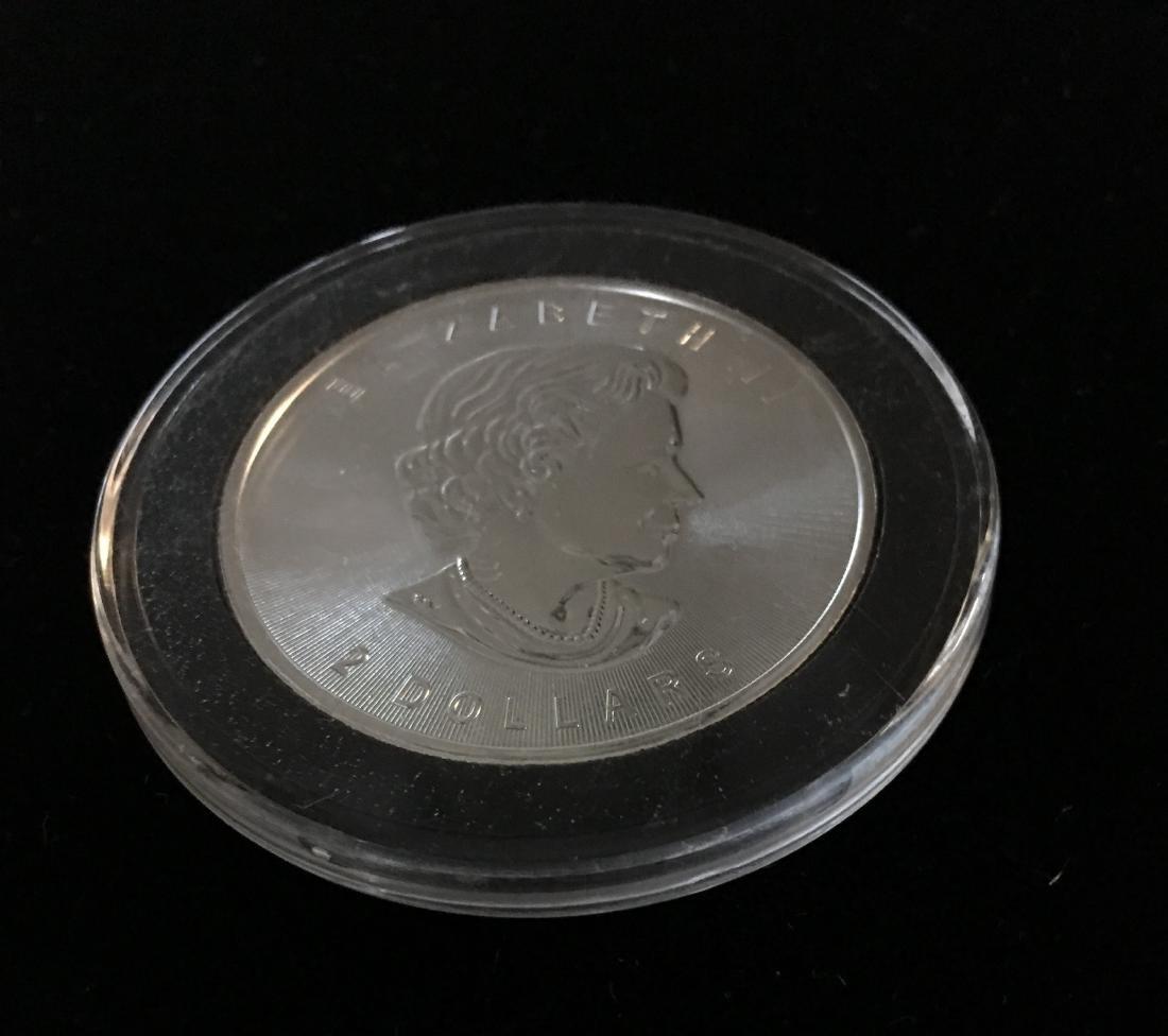 2015 $2 Canada Wild Life Grey Wolf 3/4 oz Fine Silver - 3