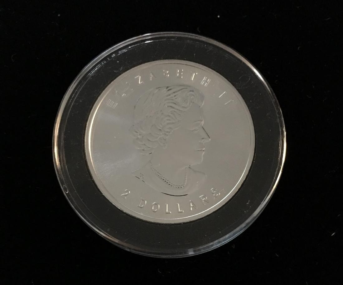 2015 $2 Canada Wild Life Grey Wolf 3/4 oz Fine Silver - 4