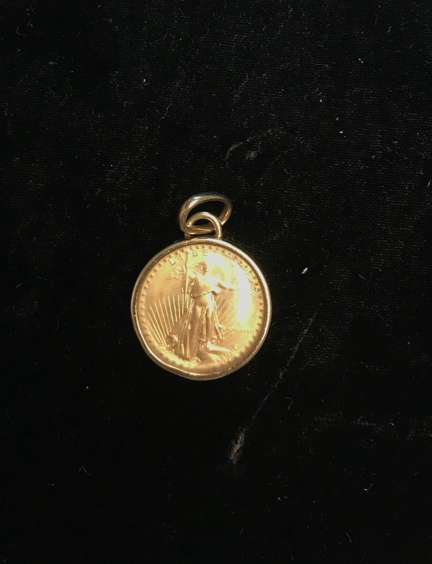 1986 American Gold Eagle 1/4 oz Gold Bezel - 2