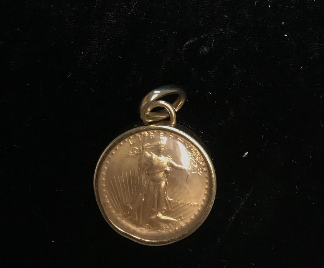 1986 American Gold Eagle 1/4 oz Gold Bezel - 3