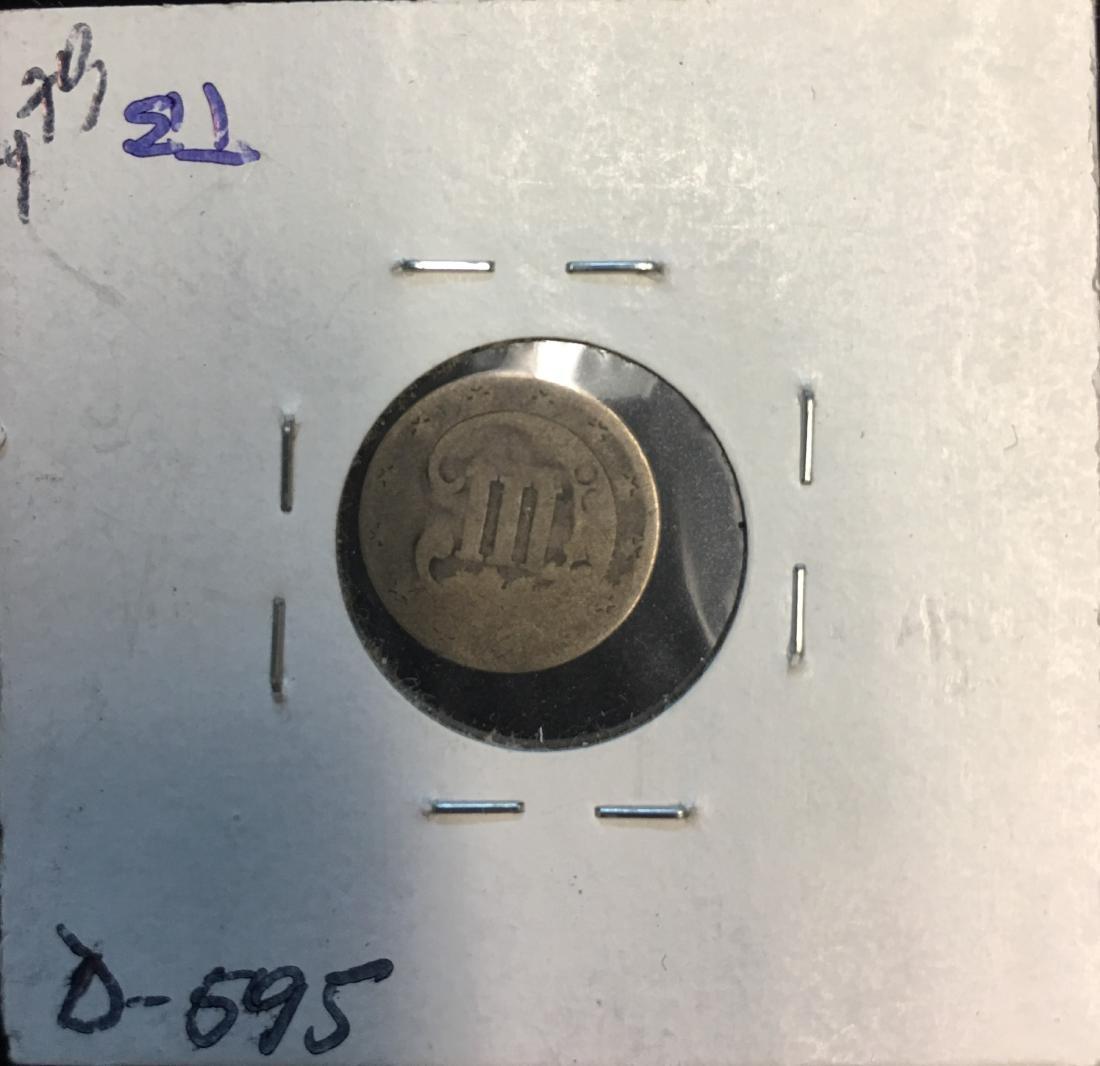 1852 3C Silver Three-Cent Piece - 2