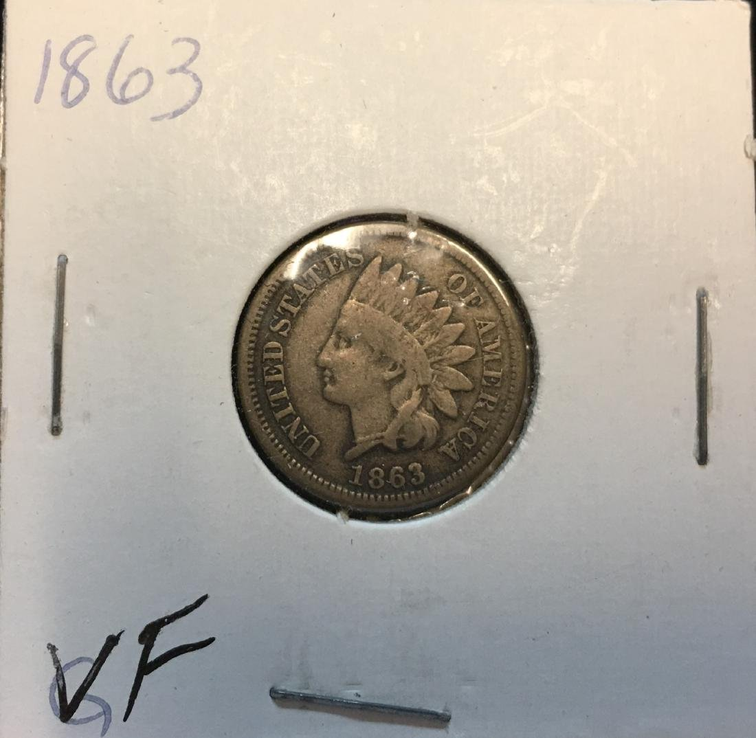 1863 1C Indian Head Cent