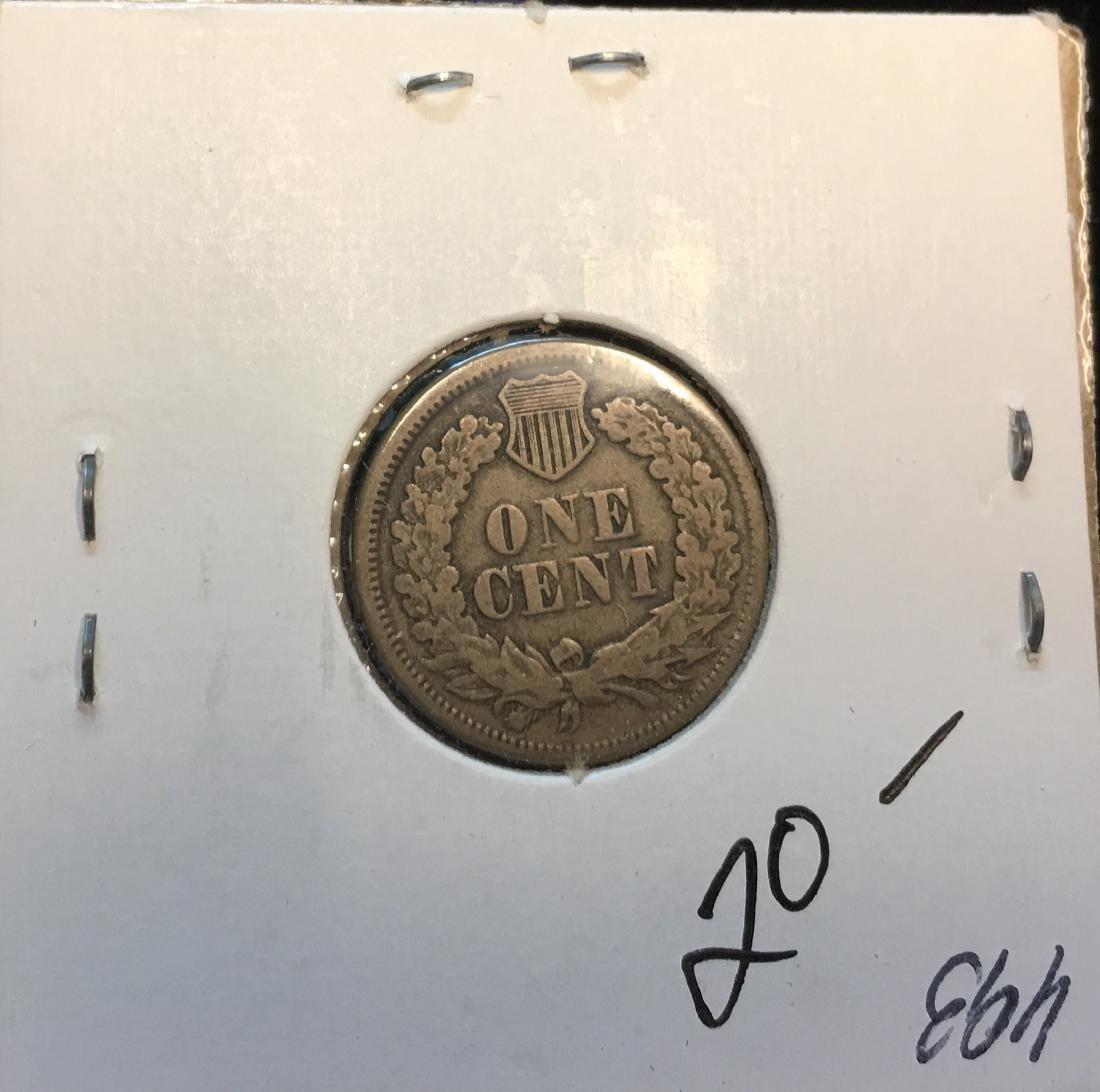 1863 1C Indian Head Cent - 2