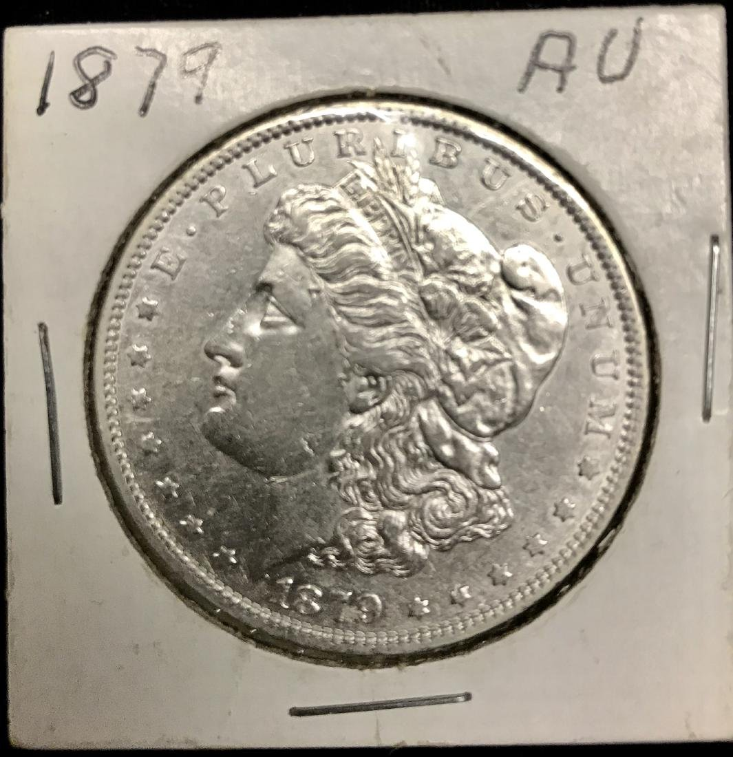 1879-P $1 Morgan Silver Dollar