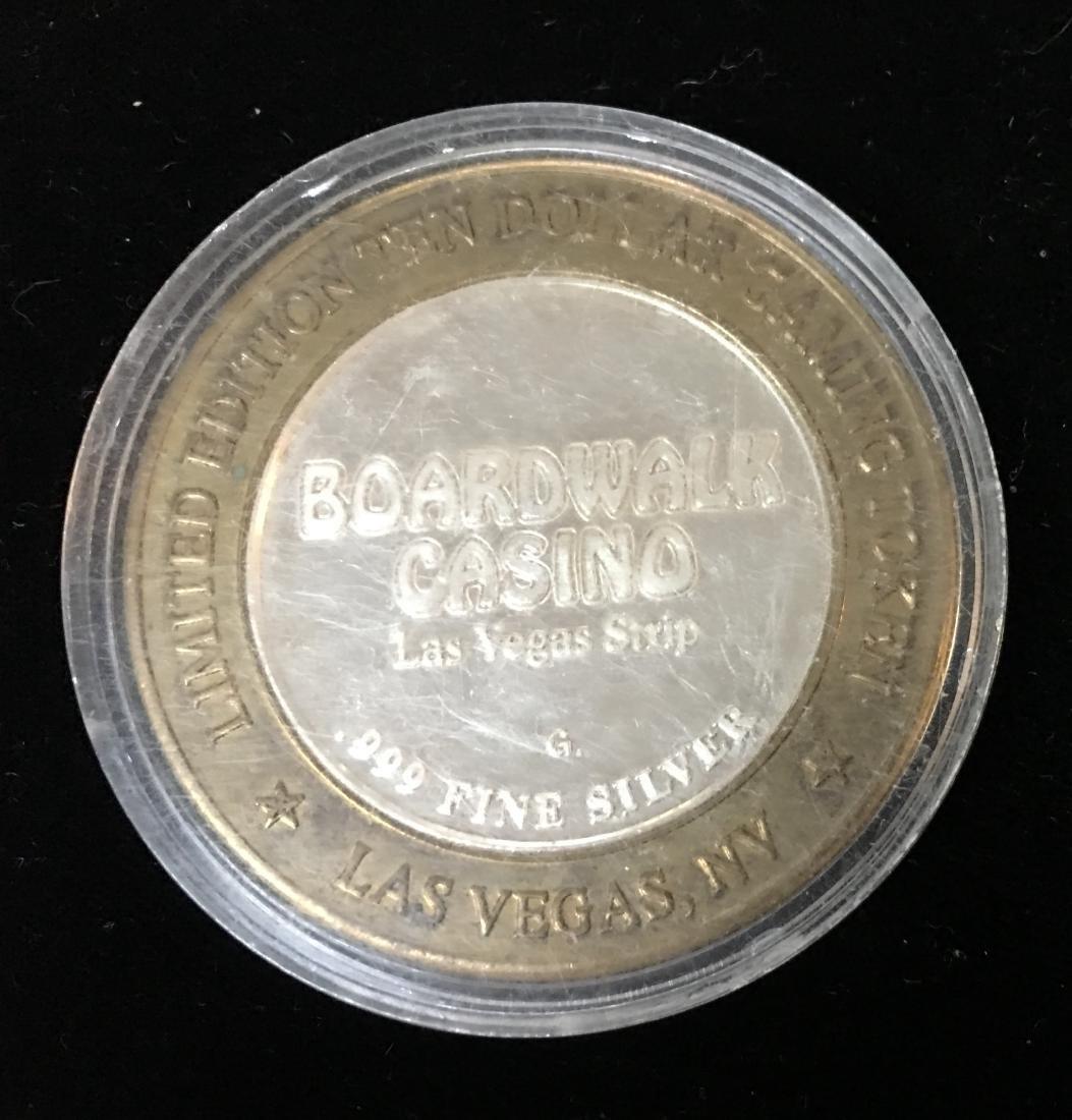 LIMITED EDITION $10 GAMING TOKEN JOCKO BOARDWALK CASINO - 2