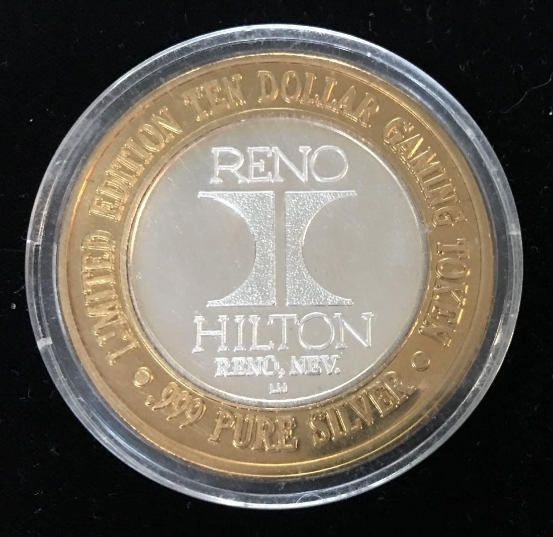 LIMITED EDITION $10 GAMING TOKEN RENO HILTON CASINO - 2