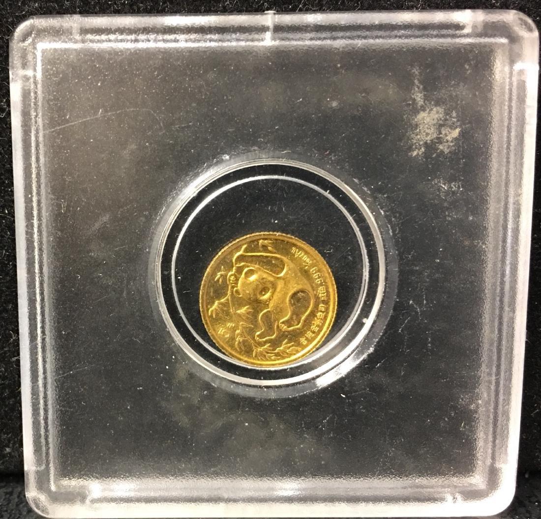 1985 CHINA 5 YUAN 1/20 oz. GOLD PANDA CHINESE MINT .999 - 2