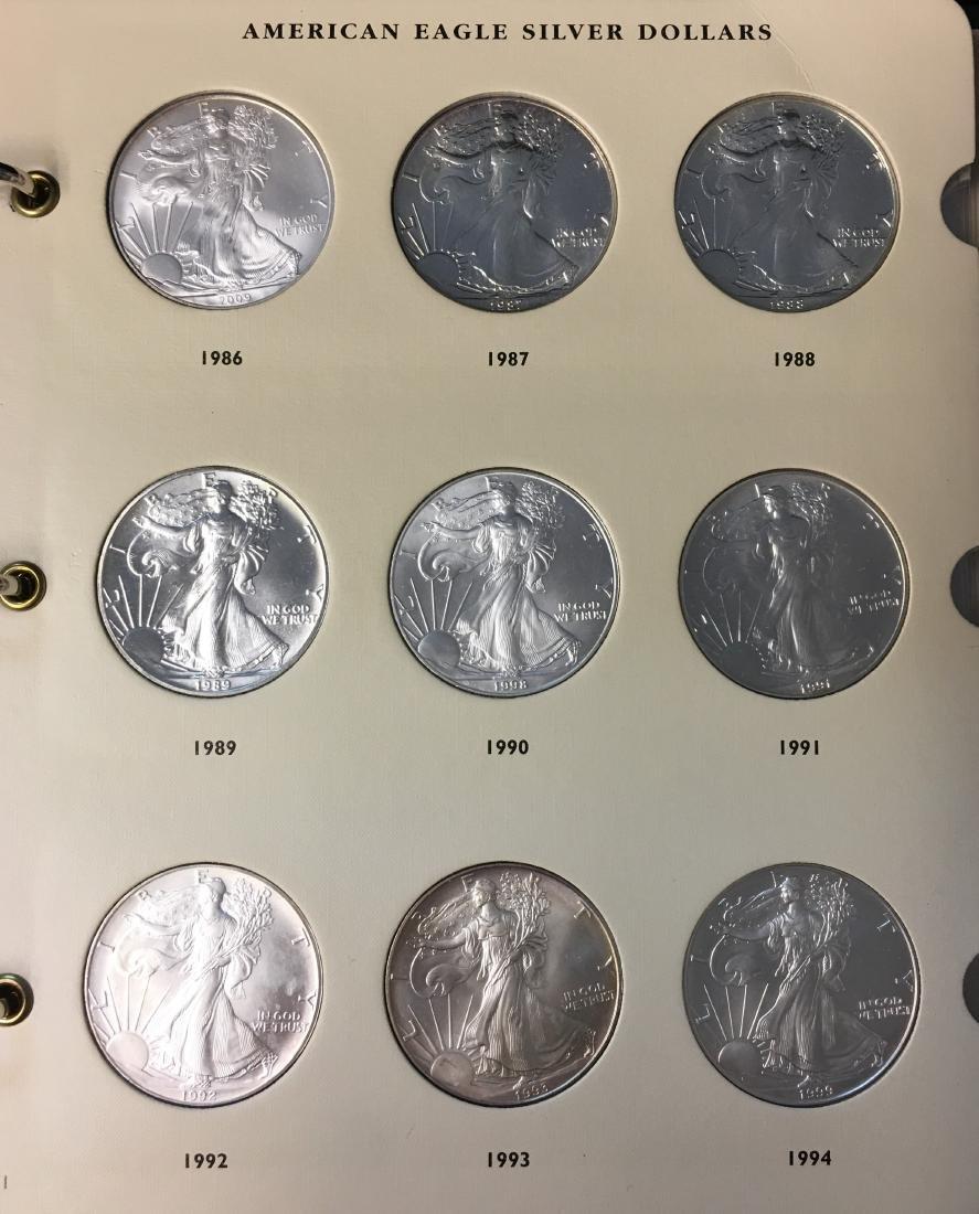 American Eagle Silver Dollars 1986-2009 Archival - 2