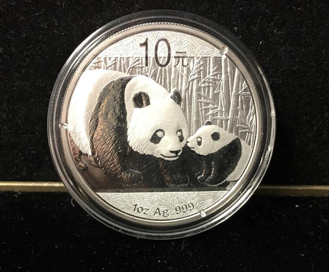 2011 China Panda 10 Yn 1 oz Ag .999 Silver