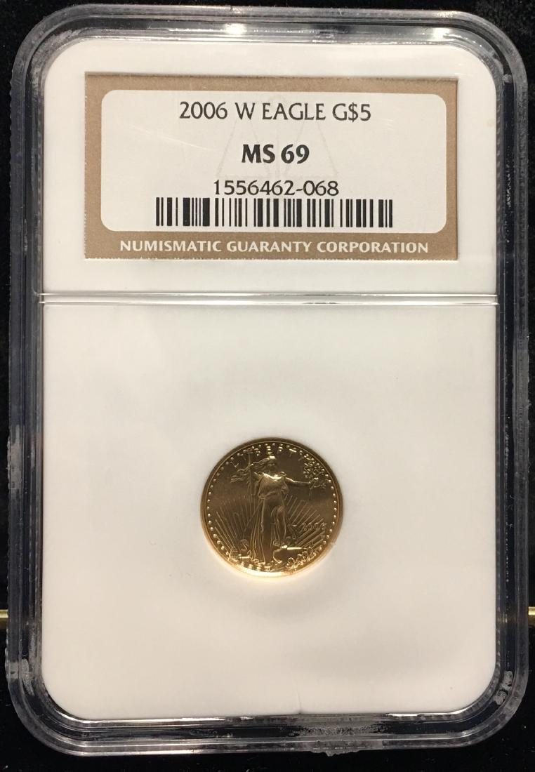 2006-W $5 American Gold Eagle Burnished 1/10 oz NGC