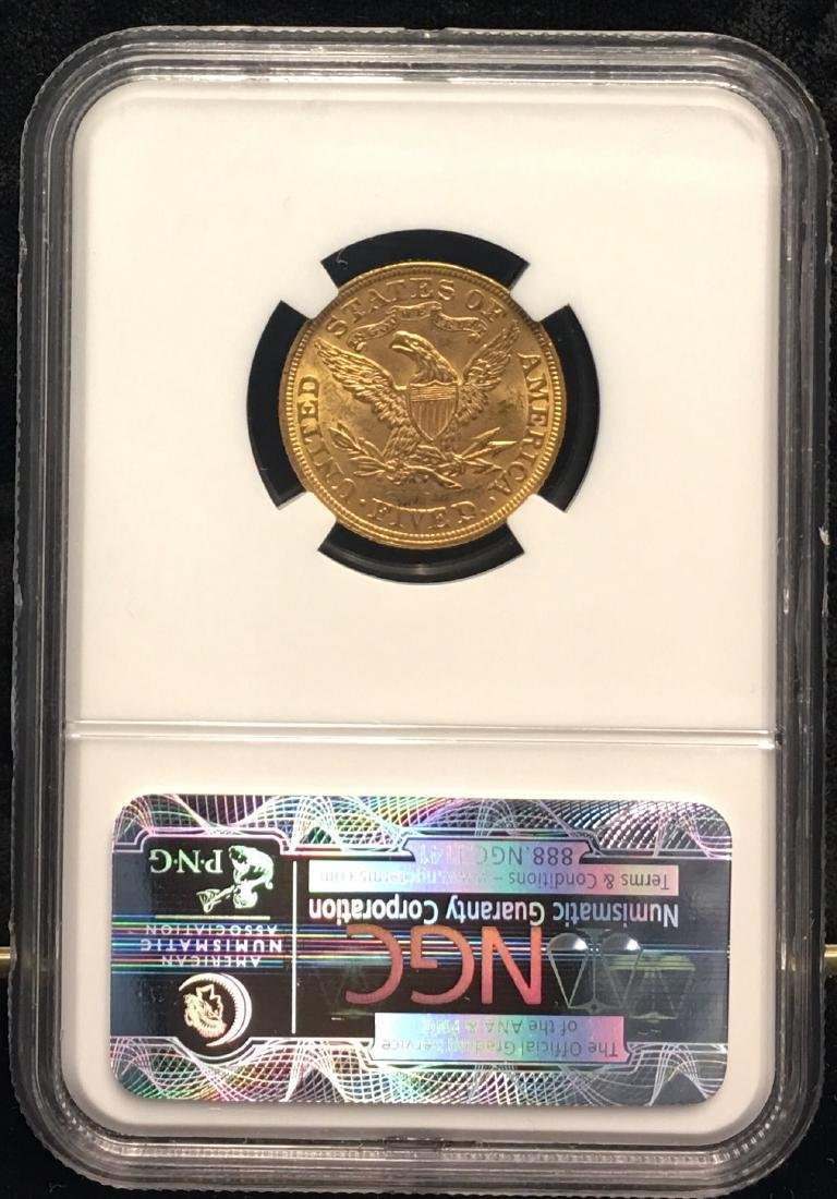 1893 $5 Liberty Gold Half Eagle NGC MS62 - 2