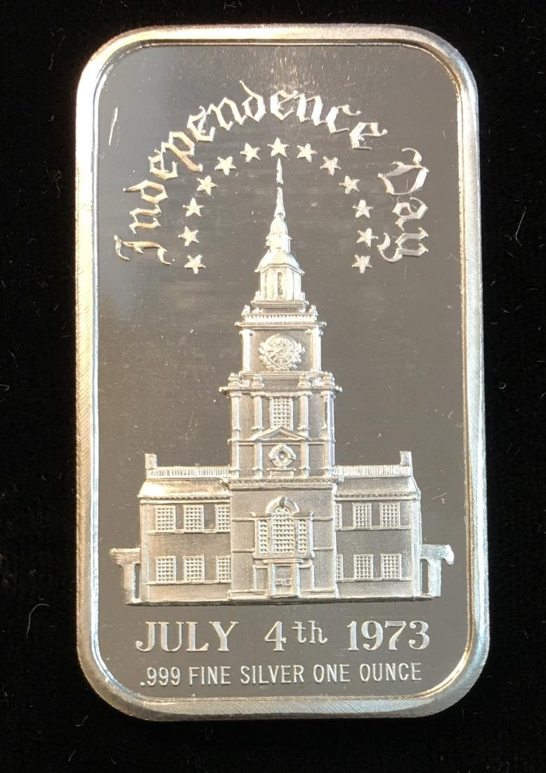 Independence Day July 4th 1973 1 oz .999 Fine Silver
