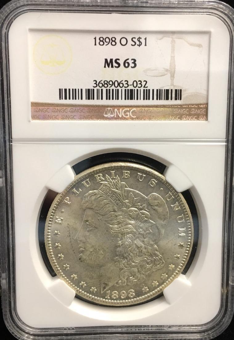 1898-O $1 Morgan Silver Dollar NGC MS63