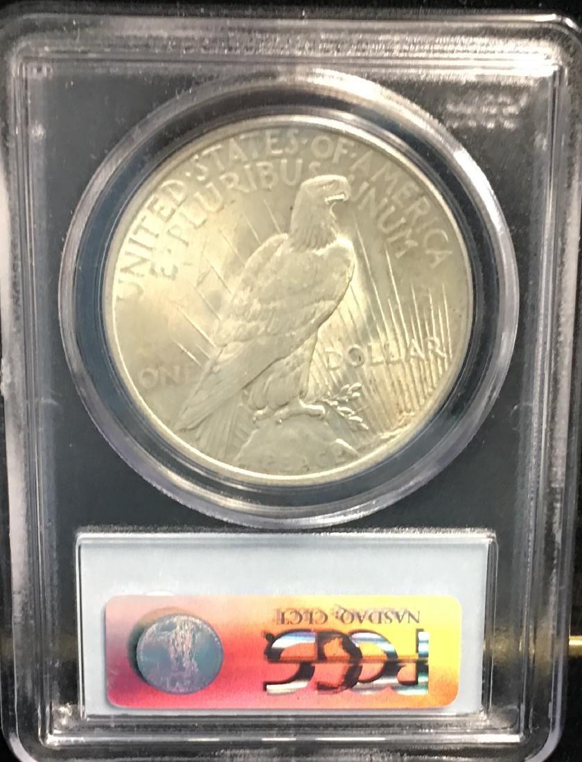 1922-P $1 Peace Silver Dollar PCGS AU58 - 2