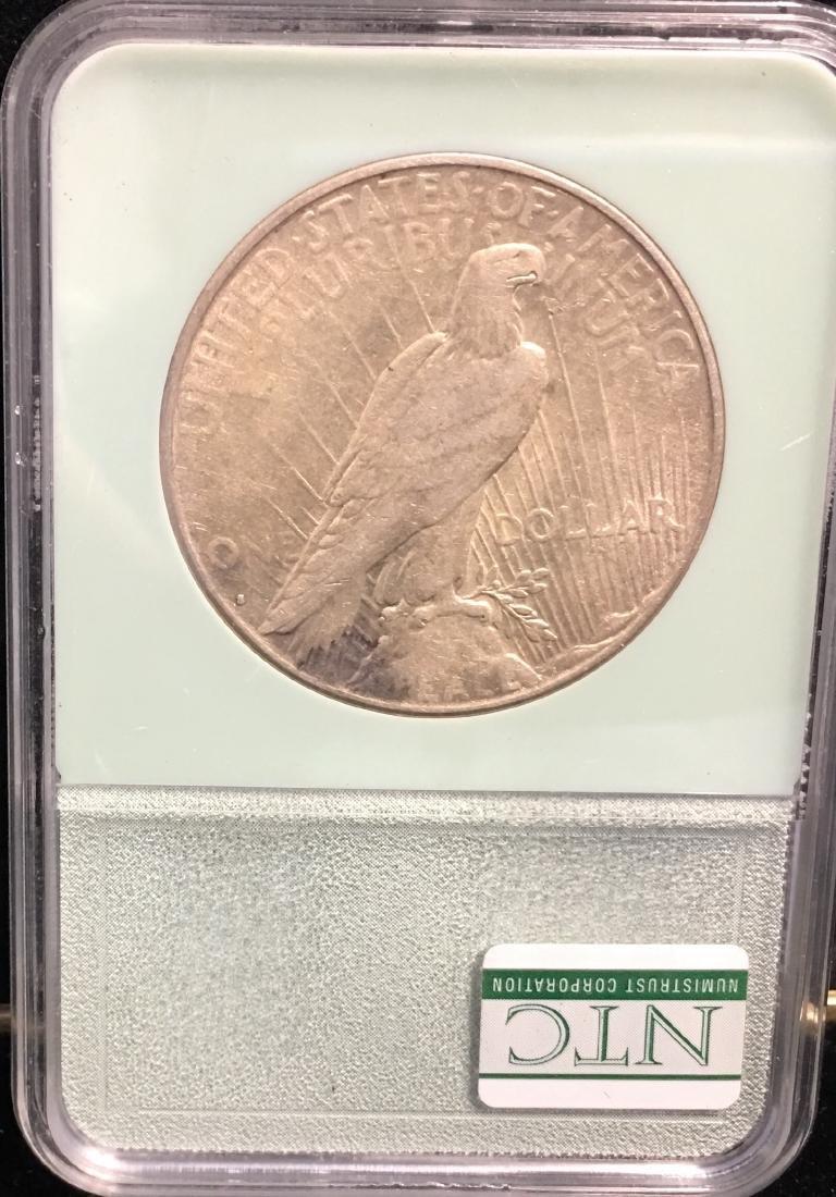 1934-S $1 Peace Silver Dollar NTC AU50 Key Date - 2