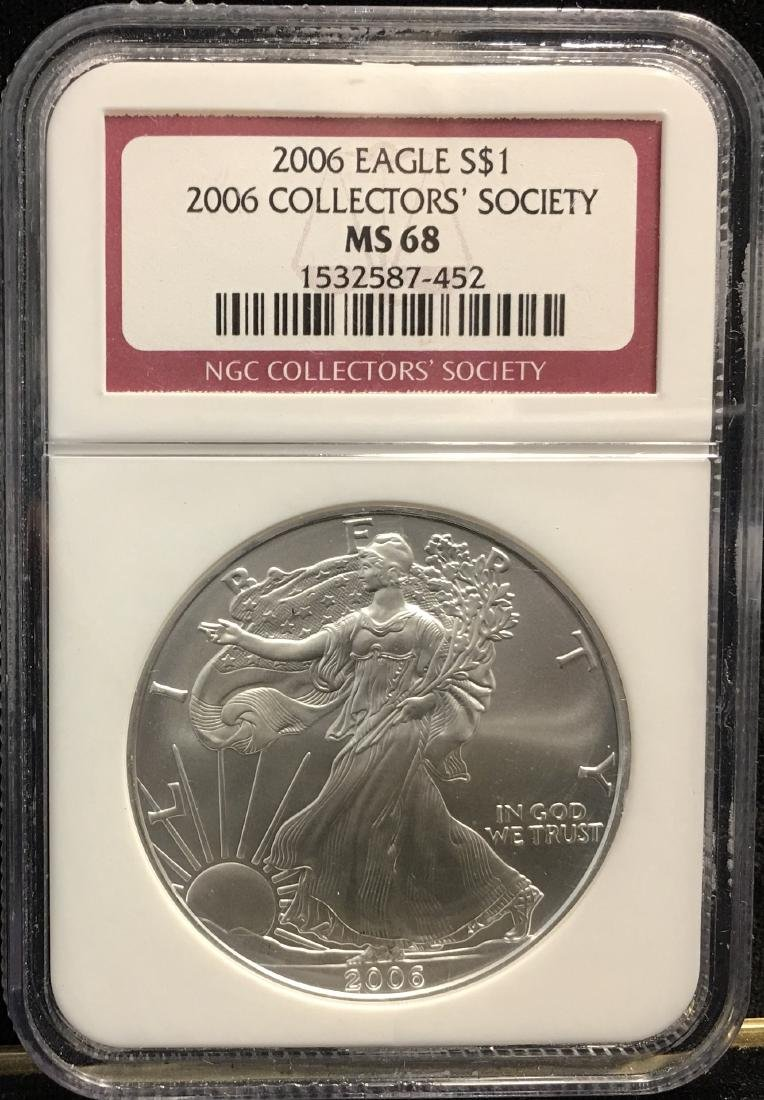 2006 $1 American Silver Eagle Collectors' Society NGC