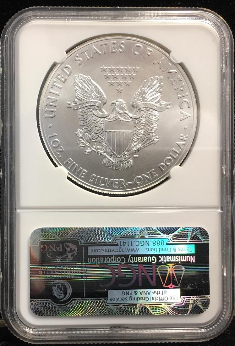 2014 $1 American Silver Eagle First Releases NGC MS69 - 2