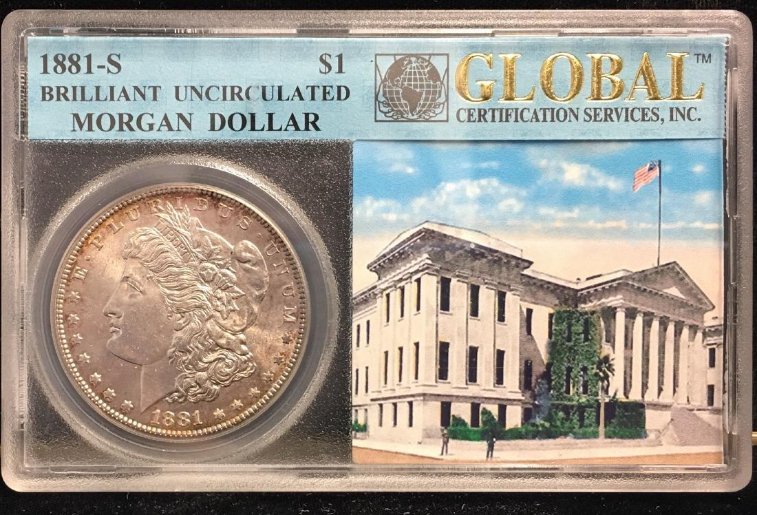 1881-S $1 Morgan Silver Dollar Brilliant Uncirculated