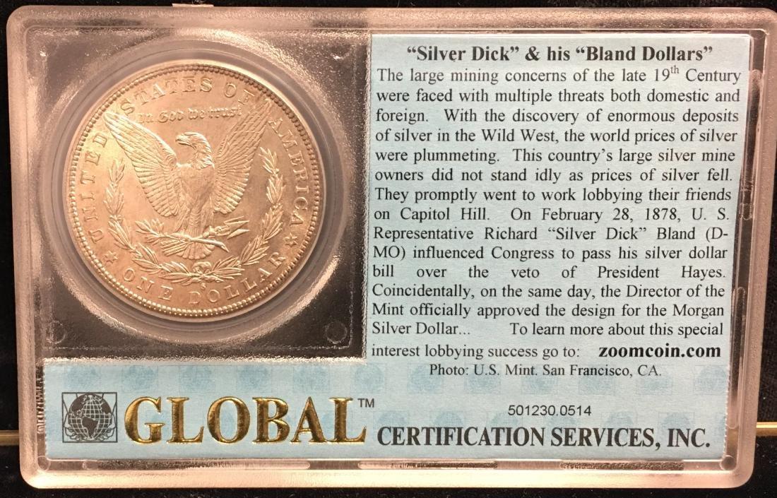 1881-S $1 Morgan Silver Dollar Brilliant Uncirculated - 2