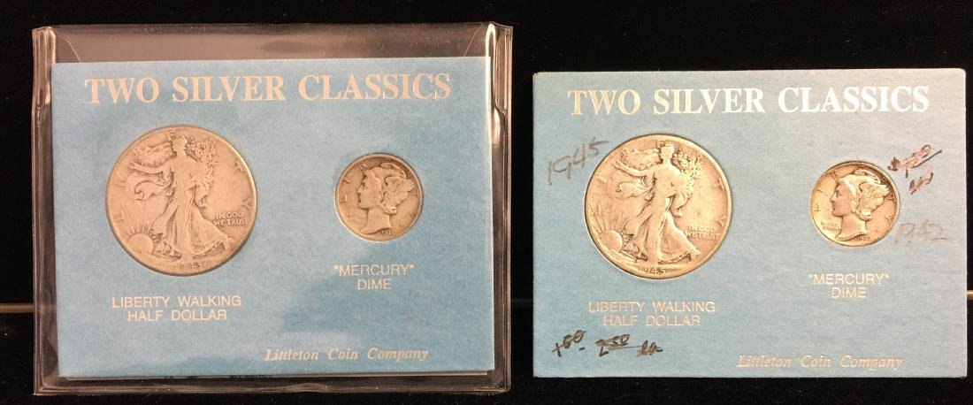 Set of 2 - World War II Coins Set 1943 & 1945 Walking