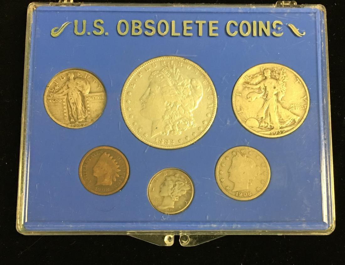 U.S. Obsolete Set of 6 coins including:  1882 $1 Morgan