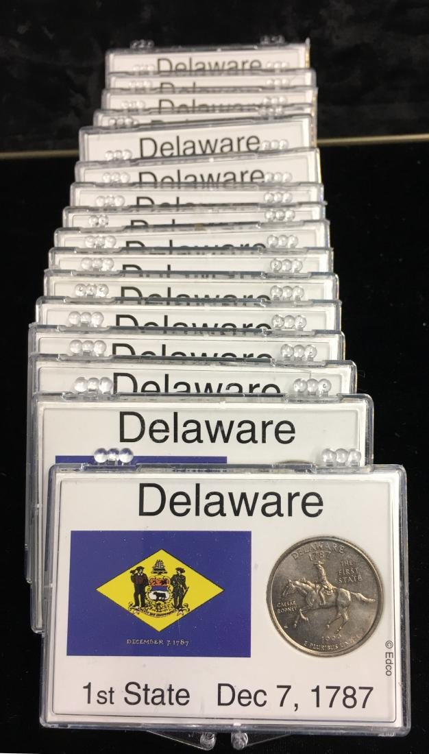 Set of 17 Dalaware Washington State Quarters - 1st