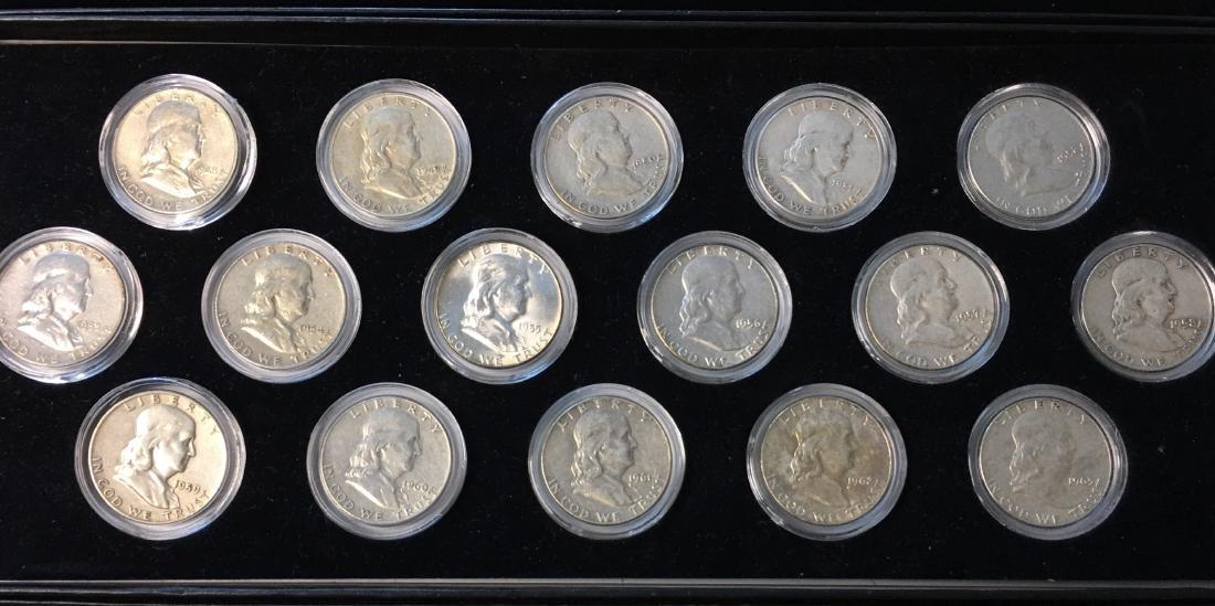 Set of Franklin Half Dollars 1948-1963