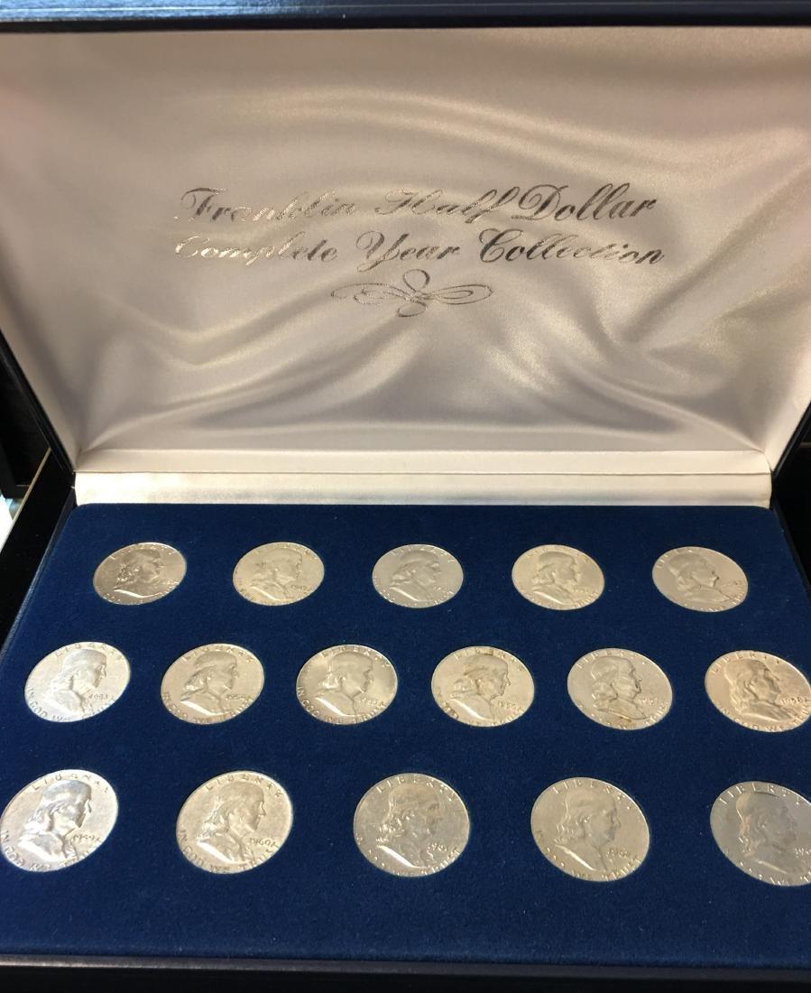 Set of 16 Franklin Half Dollars Complete Year
