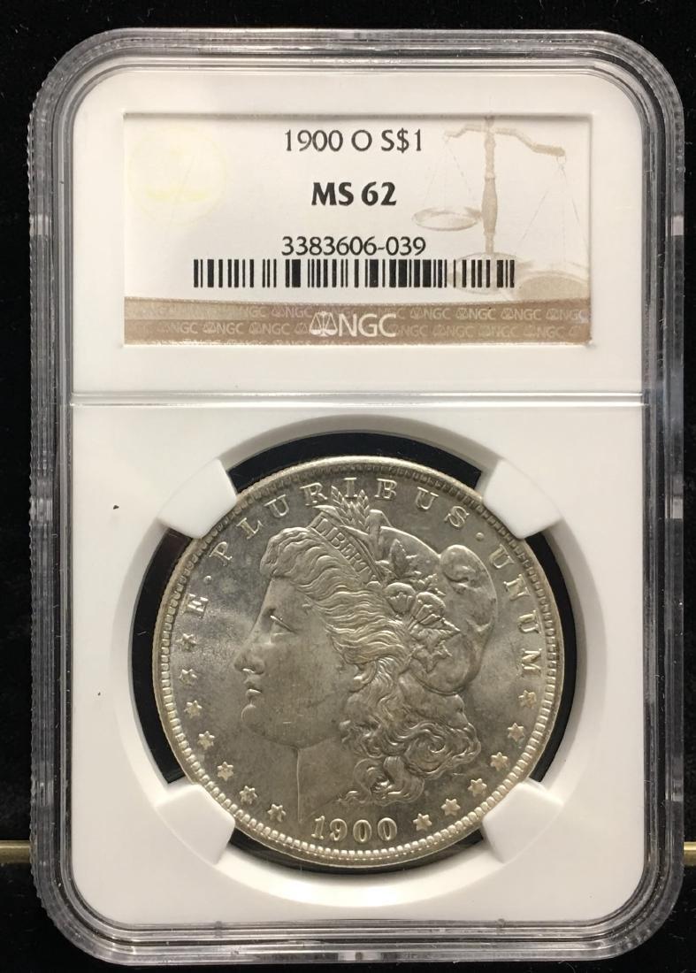 1900-O $1 Morgan Silver Dollar NGC MS62