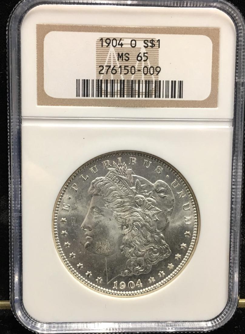 1904-O $1 Morgan Silver Dollar NGC MS65