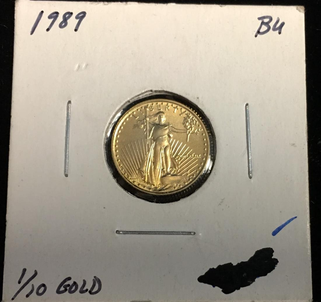 1989 $5 American Gold Eagle 1/10 oz BU