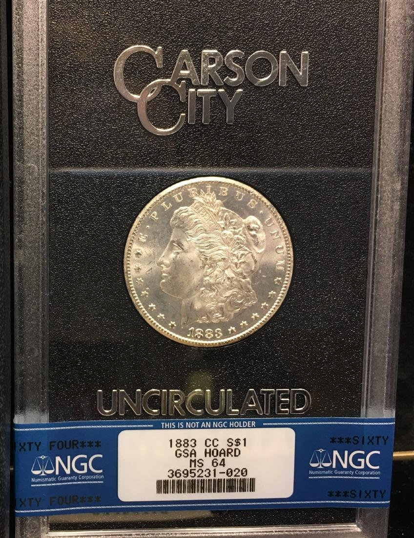 1883-CC $1 Morgan Silver Dollar NGC GSA HOARD MS64 with - 2
