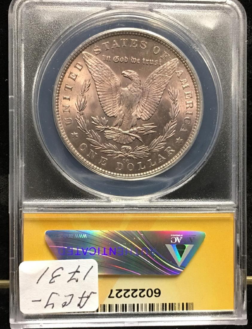 1882-CC $1 Morgan Silver Dollar ANACS MS64 - 2