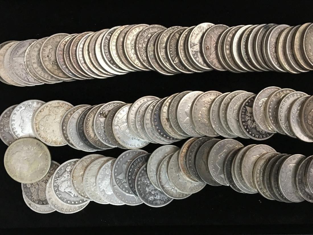 100 Mixed Morgan Dollars Pre 1921 - 4