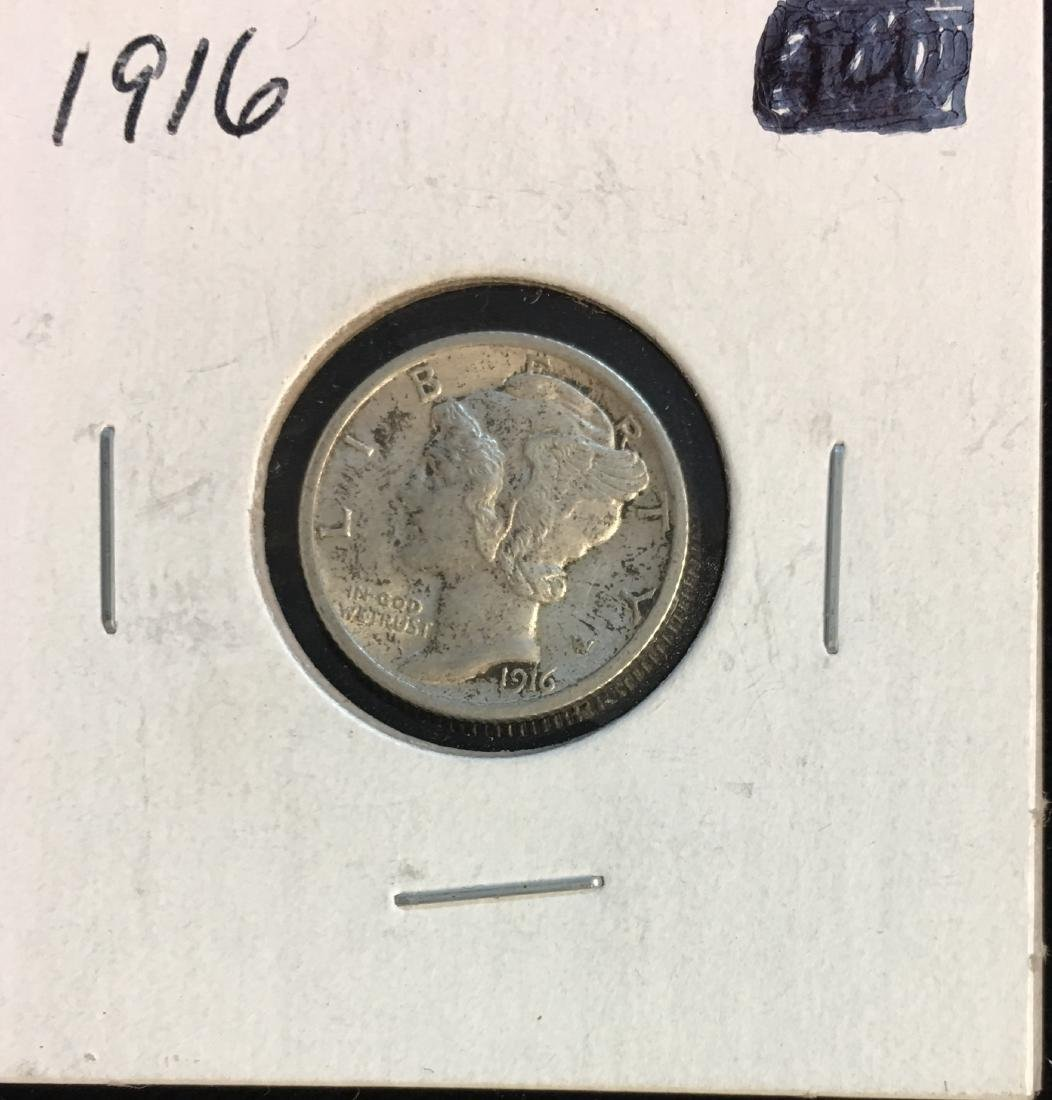 1916-P 10C Mercury Dime Brilliant Uncirculated
