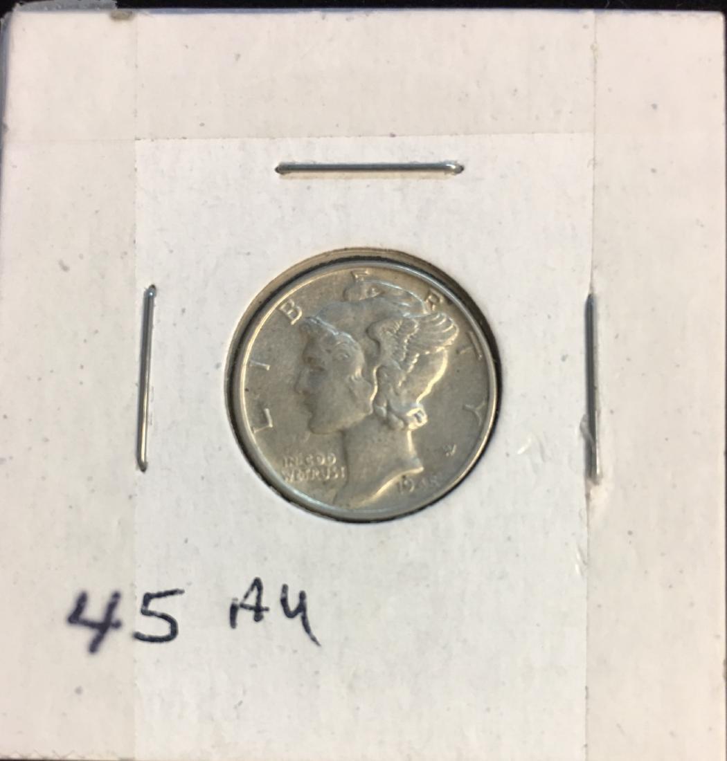 1945-P 10C Mercury Dime AU