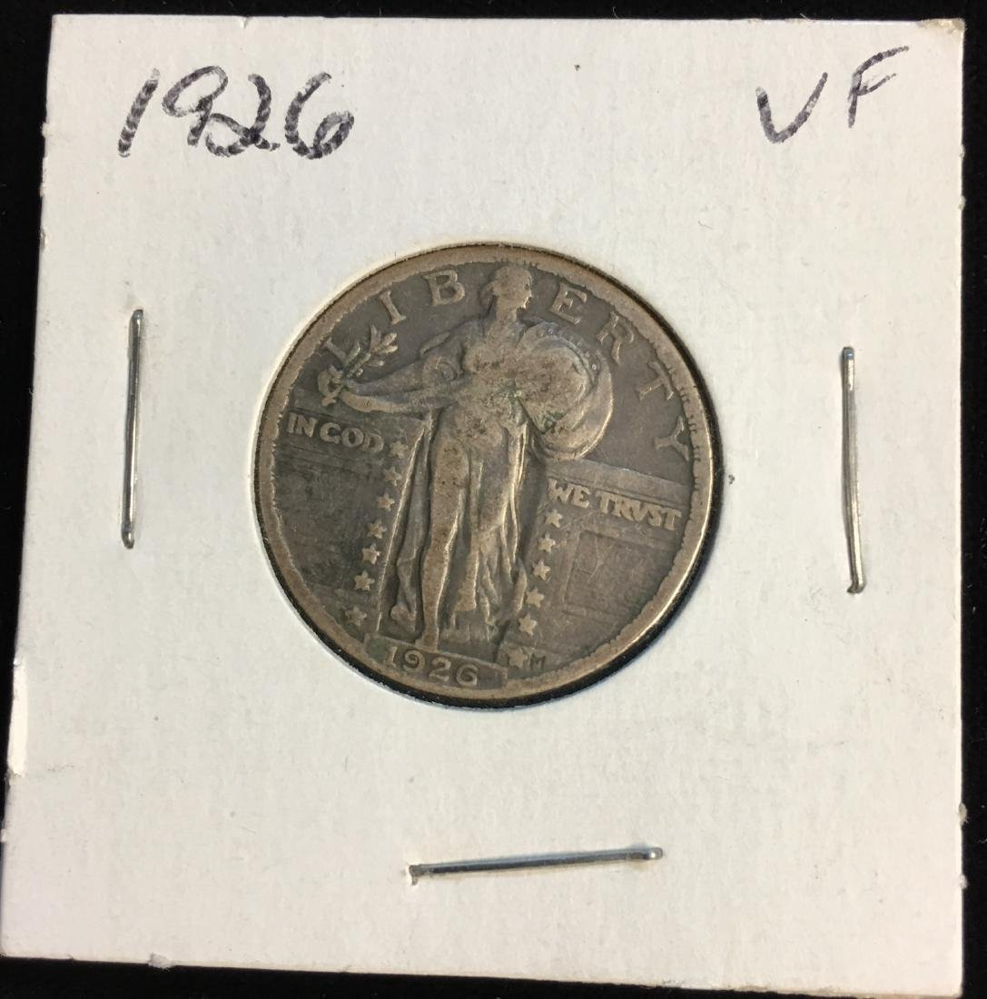 1926-P 25C Standing Silver Quarter