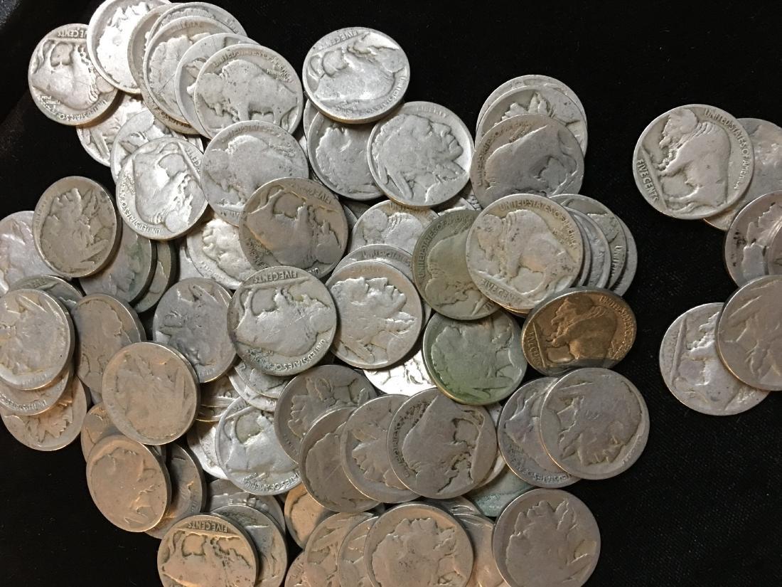 Lot of 100 Mixed no Date Buffalo Nickels