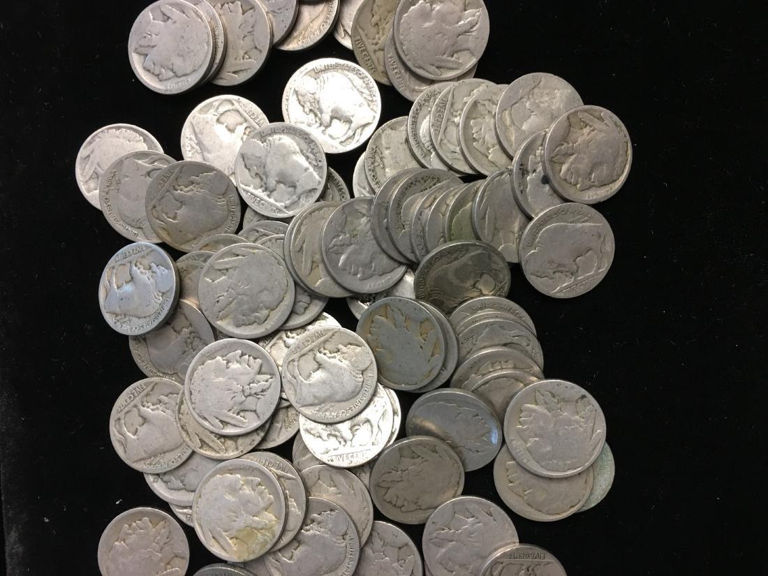Lot of 100 Mixed no Date Buffalo Nickels - 2