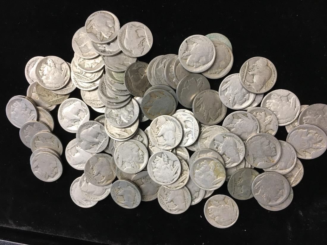 Lot of 100 Mixed no Date Buffalo Nickels - 3