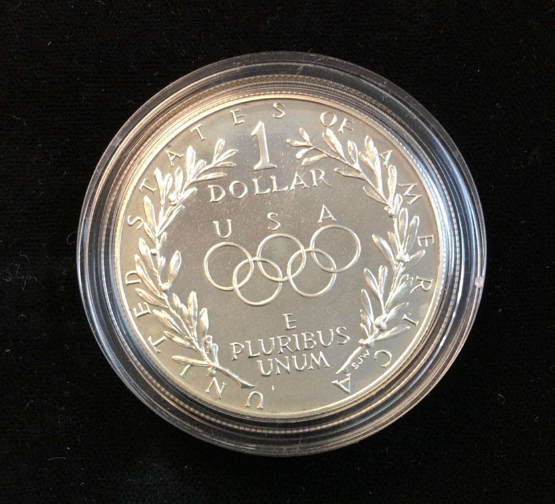 1988-S $1 Seoul Olympiad Commemorative Silver Dollar - 4