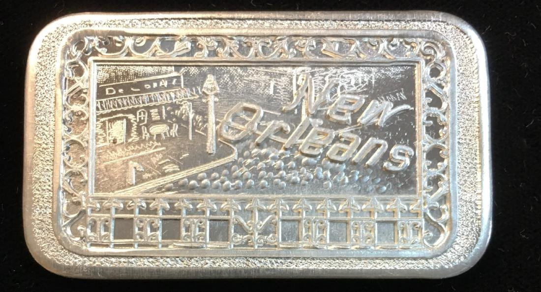 New Orleans Mother-Lode Mint 1oz .999 Fine Silver Bar