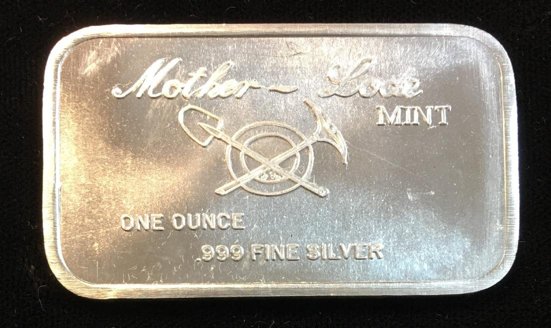 New Orleans Mother-Lode Mint 1oz .999 Fine Silver Bar - 2