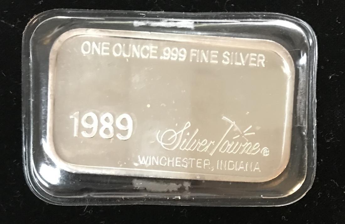 1989 Happy Retirement Art Bar 1 oz .999 Fine Silver - 2