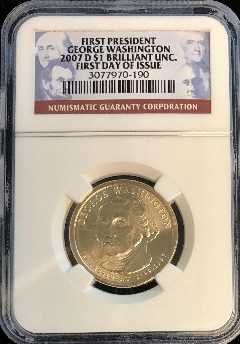2007-D $1 U.S. Presidential Dollar First President G.
