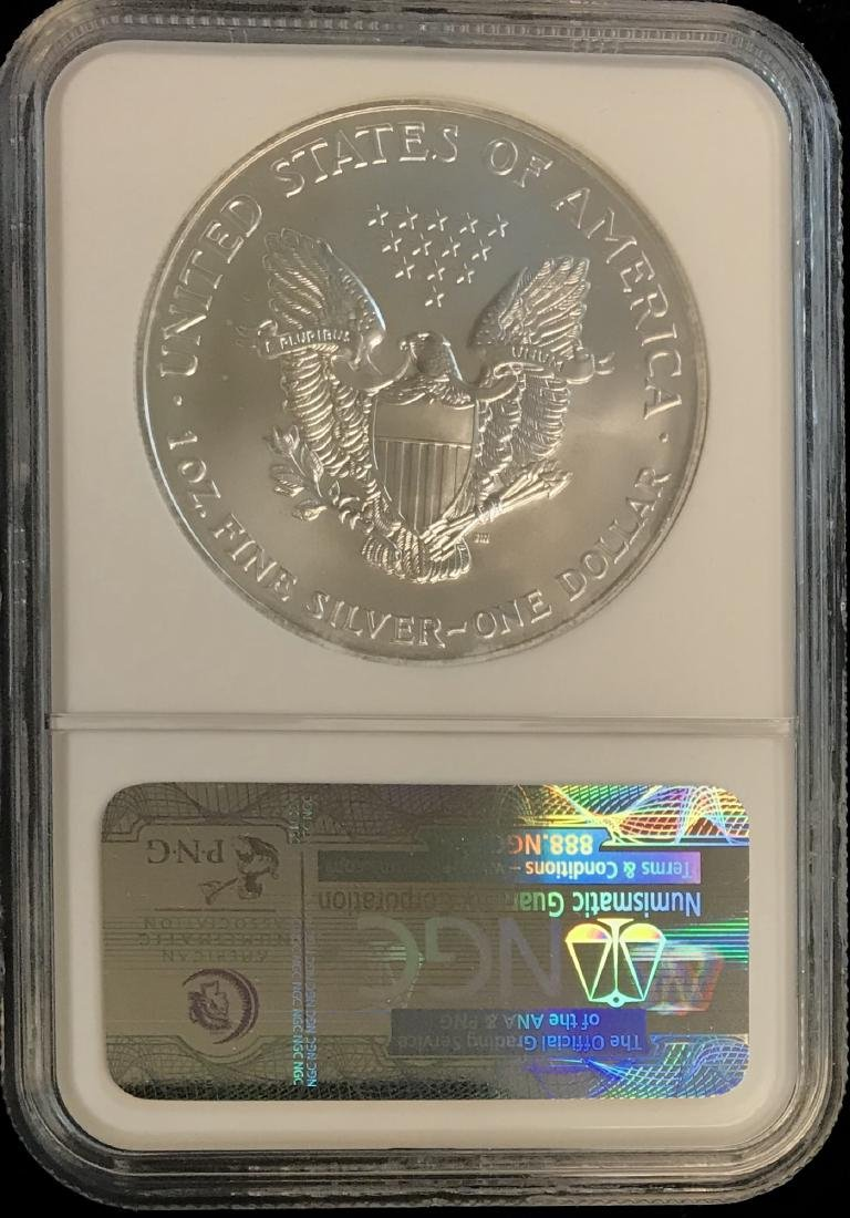 2002 $1 American Silver Eagle NGC MS69 - 2