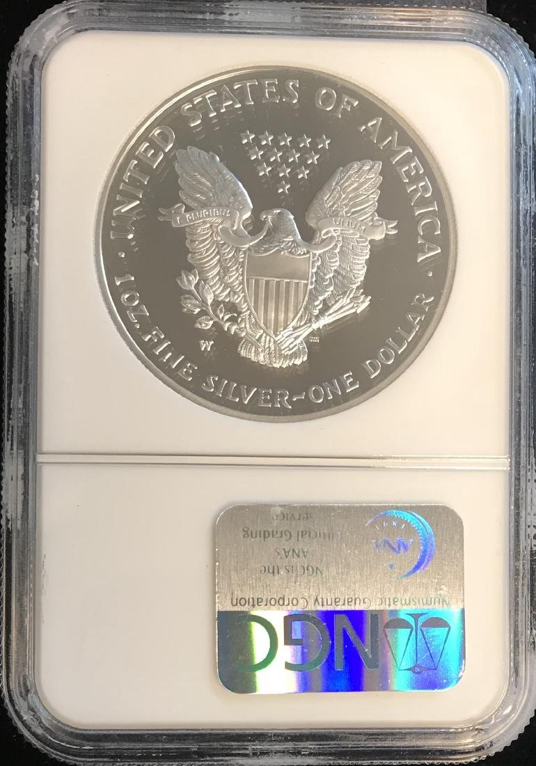 2004-W $1 American Silver Eagle NGC PF69 Ultra Cameo - 2