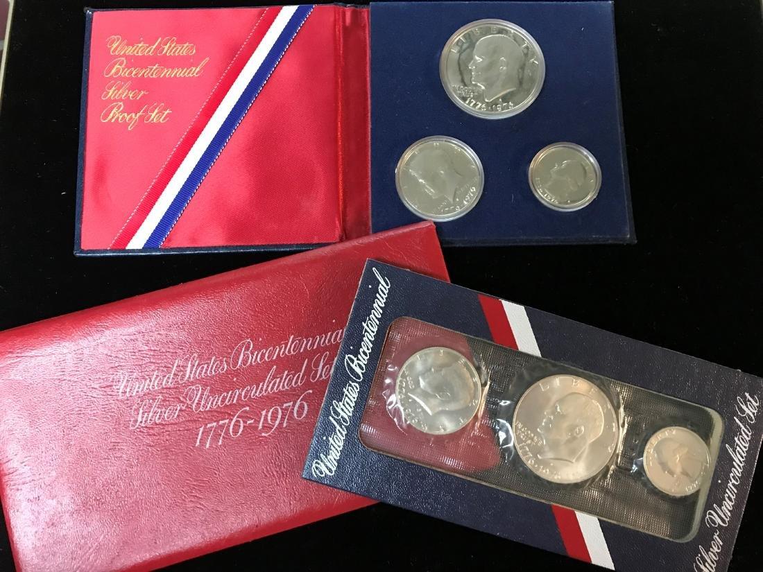 Lot of 2: 1776-1976 U.S. Bicentennial Silver Sets Proof